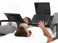 Laptop alátét fekve használat.